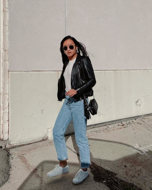 fionafkntran - Balfern Leather Biker Jacket