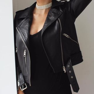ELINA - Balfern Leather Biker Jacket
