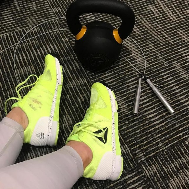 My #mondaymotivation shoes! 💥I'm always so excited to put these on and power out a workout. @reebok Crossfit Speed TR 2.0 @crossfitgames colour! These were not easy to get my hands on, I searched for weeks for a way to get them, but soo glad I did!