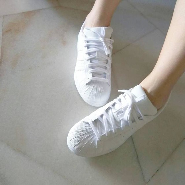 CNY shoes #adidasoriginals  #superstarfoundation #white 😙