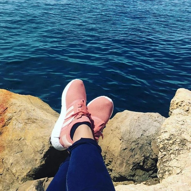 NMD's by the Sea  Location: Marseille, France  @adidas  #sea #travel #france #sneakerhead #marseille #nmd #adidas #pink #sunshine #holiday