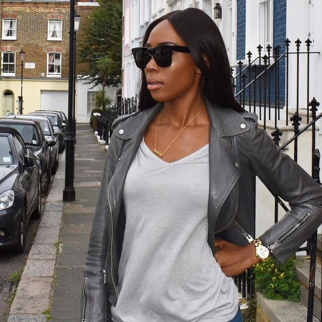 Dorothy Mark-Quartey - Balfern Leather Biker Jacket