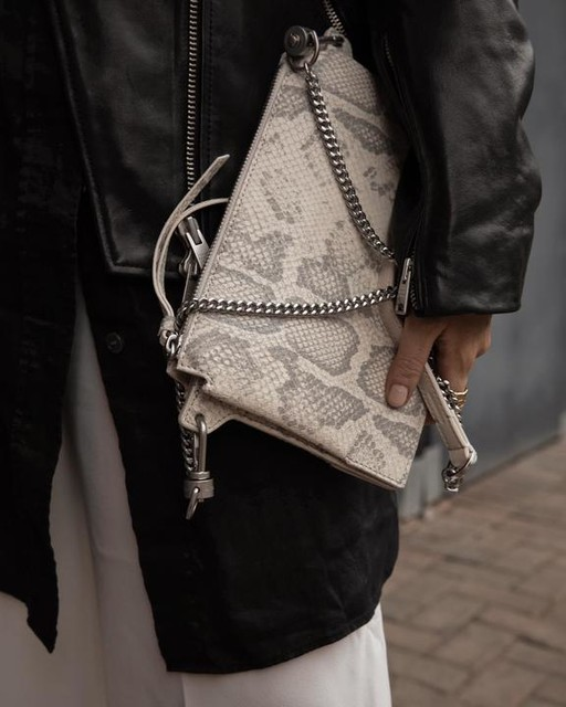 chloejade_story - Fletcher Snake Leather Crossbody Bag