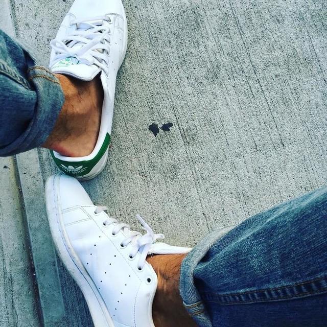 #bored #again #williamsburg #williamsburgbridge #aididas #stansmith #wytheave #brooklyn #nyc #newyork