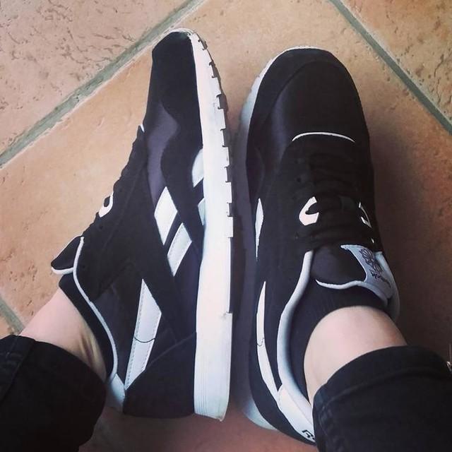 Nouvelles baskets.👟 #reebok #black #sneakers #new