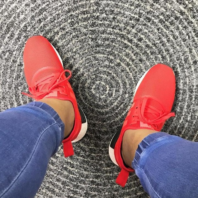 At it early on a Thursday. Red shoes to mirror the fire inside me.  #TheGrind #adidas #adidasOriginals #NMD #NMDR1 #ClearRed #red #boost #boostvibes #boostmanila #boostislife #3stripelife #teamtrefoil #showmeyourstripes #adidasgallery #shoeverze #adidasTalkPH