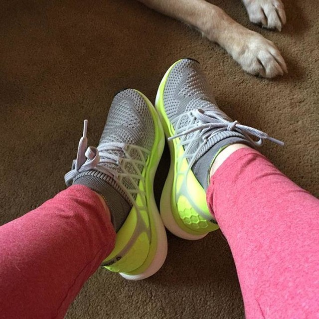 Giving my running shoes a full blast run. They still look too new. My running partner is waiting patiently with his brother #runningshoes  #runnerslife #reebokshoes #reebok