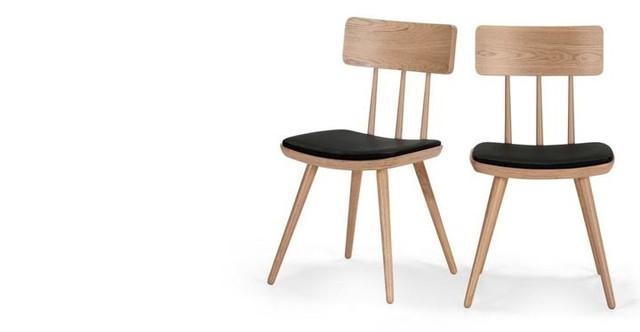 Devlin, lot de 2 chaises, frêne naturel |