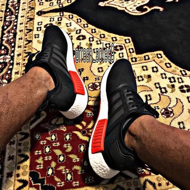Adidas NMD for today's kicks. Thanks @spigi_shoes for the idea to pull these out #sneakercraze79 #sneakercrazekicks #addictedtokicks #sneakeraddict #theshoegame #nicekicks #kicksonfire #thesolefirm #goldengrails #redwoodsf #truesthi #teezeewatches #kicks0l0gy #ebkicks #kickitwitdd #lickmy_nikes #soleasylum #thesneakerarmy #solenation #kicksmania #solesociety #kickstagram #adidas #nmd #3stripes #3stripesstyle #rock_dont_stock #fresh_feet #fresh_soles