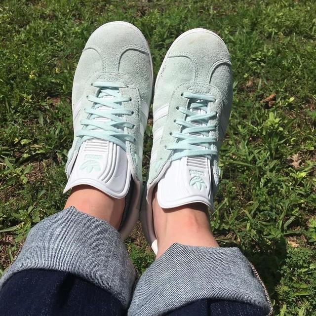 Minty kicks 🍀 #adidas #gazelle