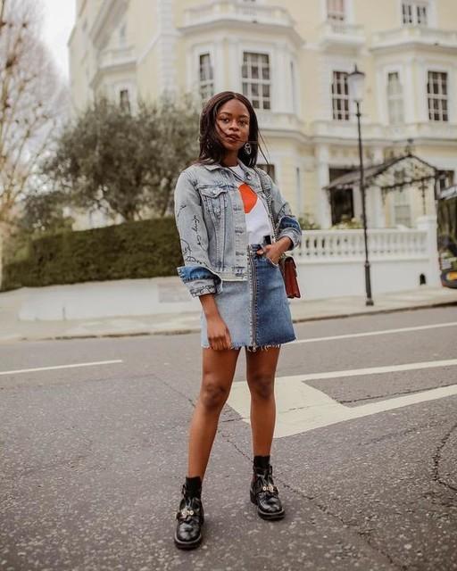 eniswardrobe - Lomo Denim Skirt