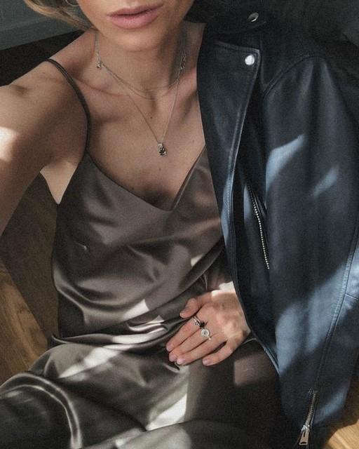 emilievis - Luna Leather Biker Jacket