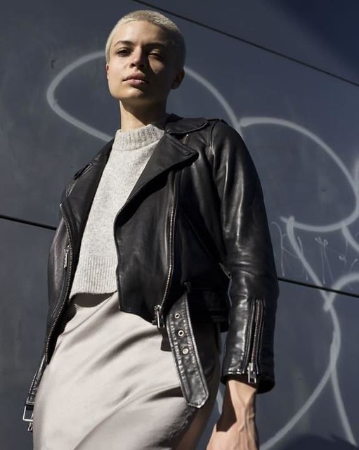 kaderolavelaj - Balfern Leather Biker Jacket
