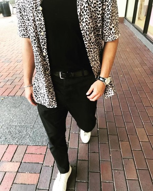 charles_acosta_ - Camicia Leopardtone