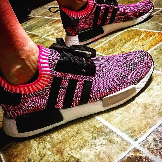 Shoes for the day #nmd #primeknit #pink #kicksoftheday #kickgamecray #mommyshoes #adidas #adidasnmd