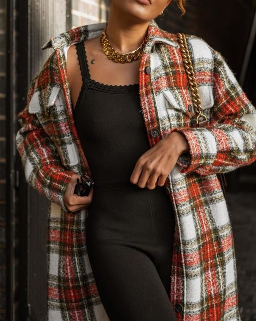 livblankson - Nia Wool Blend Check Coat