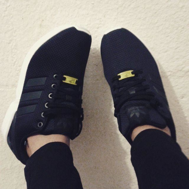 So I just got these awesome new babies my new babies... My Adidas ZX FLUX and I'm loving them♥♥♥ #AdidasOriginal #ZXFLUX #Lovingthem