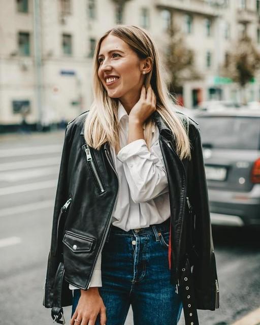 iamseldimirova - Billie Leather Biker Jacket