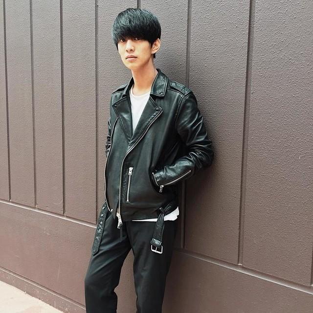小川貴凡 - Kaho Leather Biker Jacket