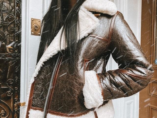 whocares.whatshewears - Elder Shearling Biker Jacket