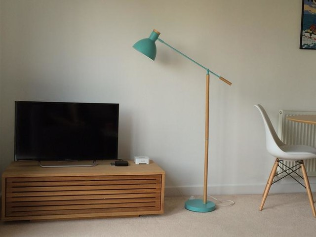 Cohen Floor Lamp White And Natural Oak Made Com