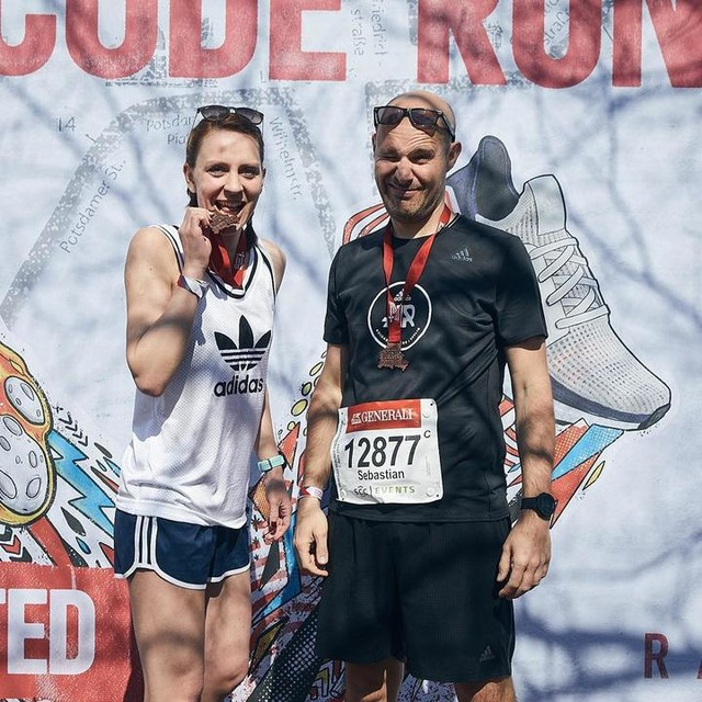 🏃🏻 come on. we know it. running is run. celebrating new medals most of all — #berlin #berlinhalf #21k #adidasrunners #community #whyirun #crewlove #urbanrunning #friends #cometogether — #runnerscommunity #fitnessjourney #run #running #runday #runningman #friends #runforyourlife #happyrunner #instarunners #justrunn #runshots #runitfast #runwithme #fit #fitfam #sport