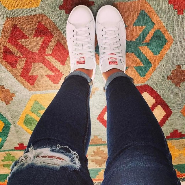 Casual #friday #outfitoftheday 👟loving my new #adidas #stansmith 😍