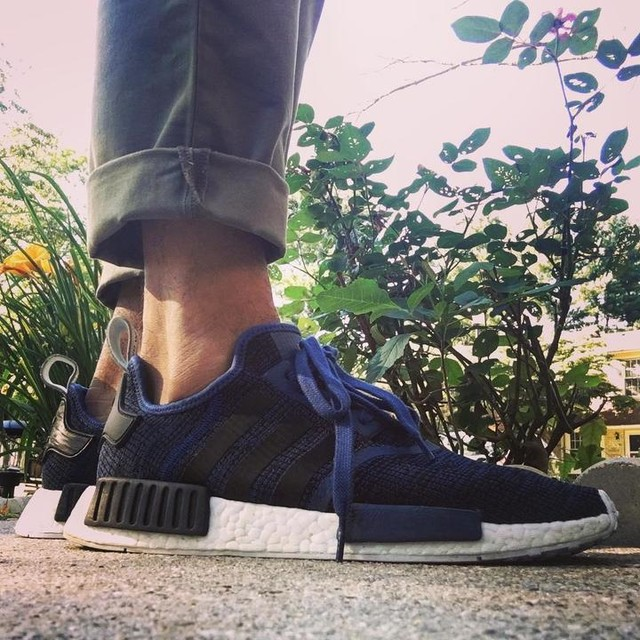 Hands down the comfiest shoe I have ever owned. #kotd #adidas #nmd #r1