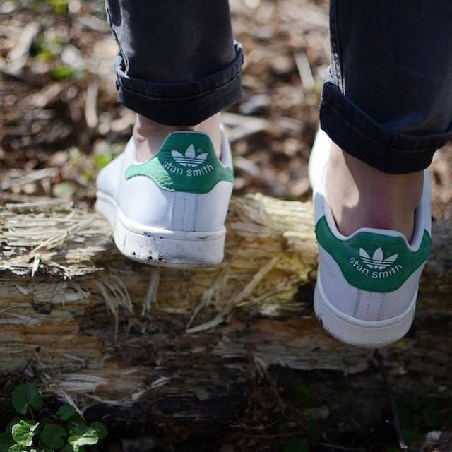 Taking Mr. Smith for a walk... #stansmith #adidas