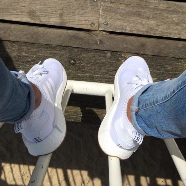 In love 😍 #allwhite #gumsole #nmd #sneakerhead #adidas
