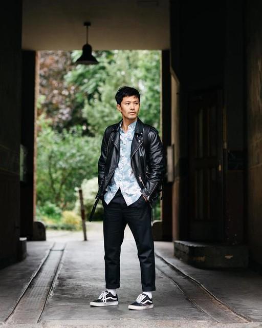 Linh Tran Trung - Kahawa Leather Biker Jacket