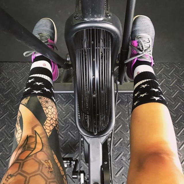 """I said to the assault bike today, """"we will never be friends."""" Then he whooped my ass during a WOD that included 3 rounds of 19 cals on this devil machine."""
