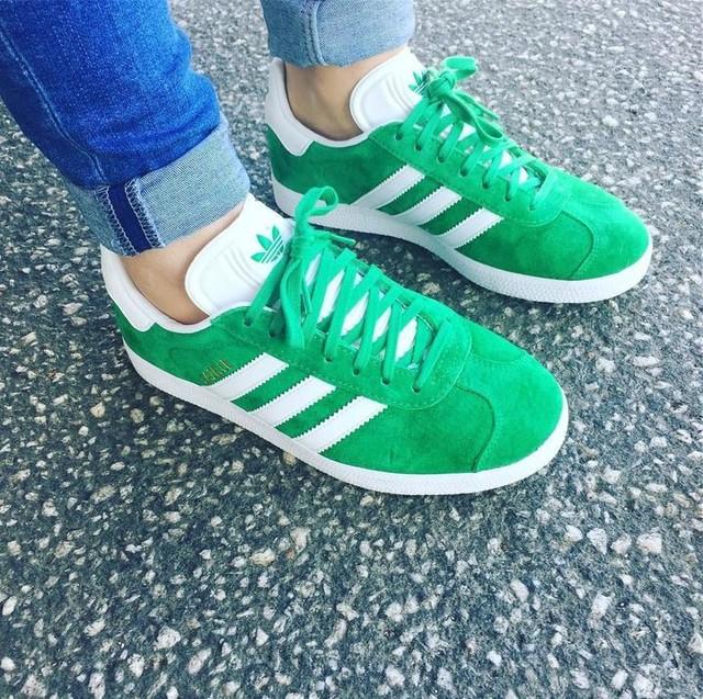 adidas gazelle blue and green