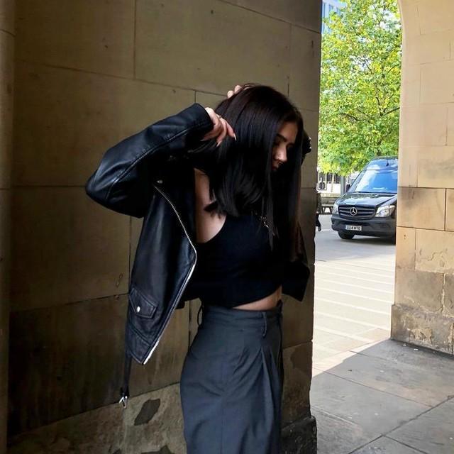 angelvmaria - Eline Oversized Leather Biker Jacket