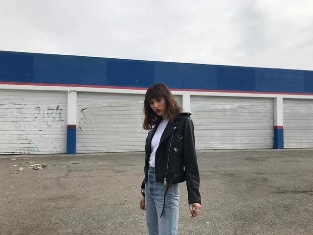 Jenna Simoncelli - Gidley Leather Biker Jacket