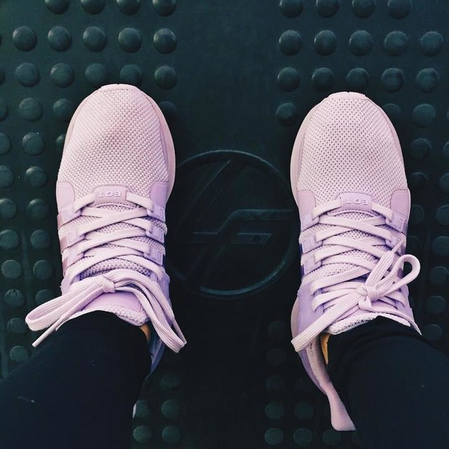 When gym is life so you go before a game and forgot your gym shoes. Gym isn't really life but you know. Kinda. 🌚 . . . . . #latepost #kickstagram #instakicks #sneakers #adidas #eqt #equipment #lilac #purple #lavender #athleisure #lifefitness #citysports #club #gymrat #gymlife #doubledays #legpress #legday #everyday #kotd #bayareagotsole #bawdywt #sneakers #sneakerhead #kicks #sneakerheads #adidaseqt