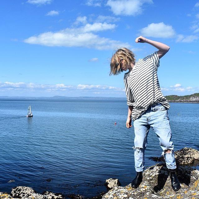 Tegan Whybrow - Kleve Stripe Crew T-Shirt