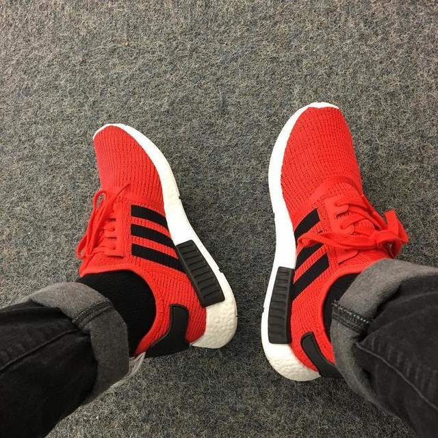 Perfect weather to rock my adidas nmd core red! #adidas #nmd #runner #core #red #weather #smile #fire #kicks #boost #chill #freash