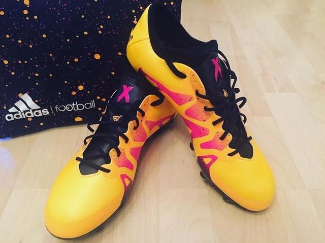 #backinthegame #adidas #football #adidasfootball #x15 #solargold #new #love #passion #bethedifference ⚽️😍