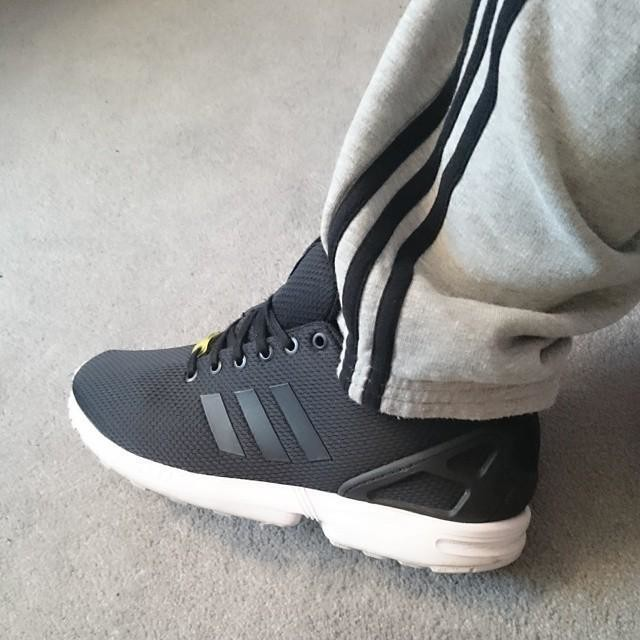 Adidas Zx Flux Weave Grey Black White His trainers Offspring