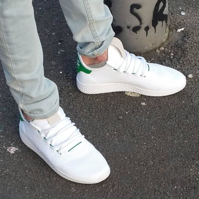 CREP CHECK! Adidas Pharrell Williams Hu Tennis kicks. (Classic Stan Smith) colourway.  #crepcheck  #adidas #adidaspharell  #pharrell #pharrellwilliams #nerd #hu  #humanrace  #kicks #kicksonfire  #sneakers #sneakerhead  #footwear  #trainers #shoes #kotd  #womft  #tennis  #stansmith  #manchester  #0161 #crepprotect  #